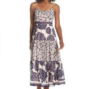 🆕 Eliza J Navy Print Midi Dress